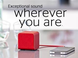 Nuforce - Cube - portable speaker - rood