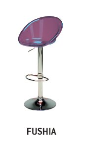 UPON SPHERE Polycarbonaat met chrome basis MALVA PURPLE